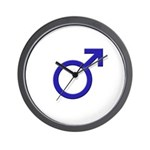 Male Symbol Wall Clock