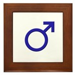 Male Symbol Framed Tile