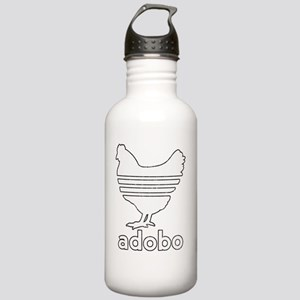adobowhite-line-tex Stainless Water Bottle 1.0L
