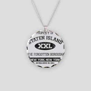 staten island Necklace Circle Charm