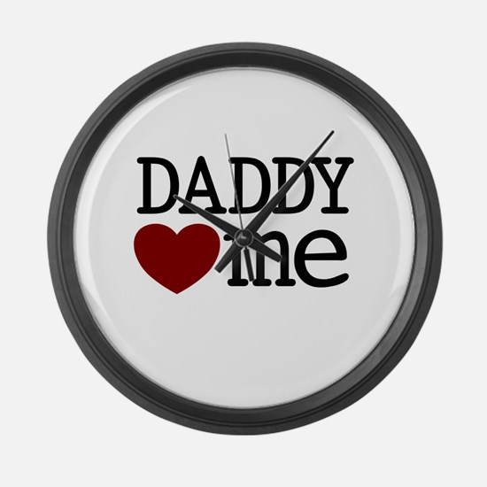 Daddy Heart Me Large Wall Clock