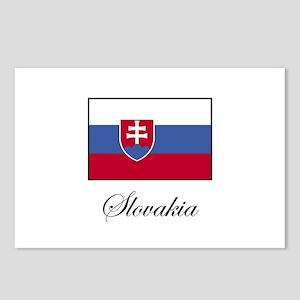 Slovakia - Slovakian Flag Postcards (Package of 8)
