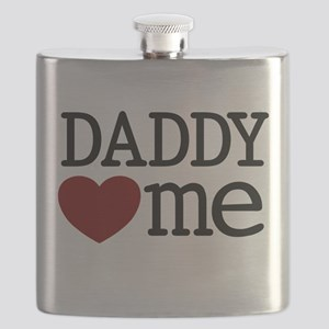 Daddy Heart Me Flask