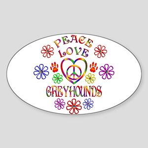 Peace Love Greyhounds Sticker