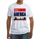 Extruding America Fitted T-Shirt