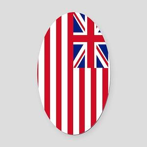 1776 US Flag Oval Car Magnet