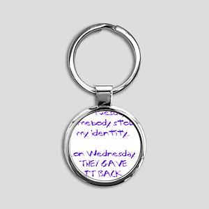 ID theft copy Round Keychain