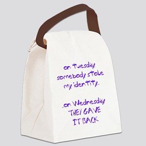 ID theft copy Canvas Lunch Bag