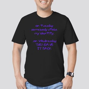 ID theft copy Men's Fitted T-Shirt (dark)