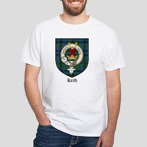 Keith Clan Crest Tartan White T-Shirt