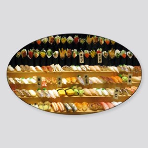 2-16x20_print SUSHI WALL Sticker (Oval)