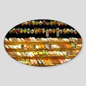 2-16x20_print SUSHI WALL Sticker (Oval)