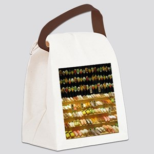 2-16x20_print SUSHI WALL Canvas Lunch Bag