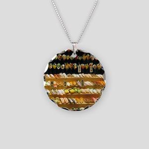 2-16x20_print SUSHI WALL Necklace Circle Charm