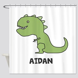 Personalized Dinosaur Shower Curtain