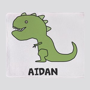 Personalized Dinosaur Throw Blanket
