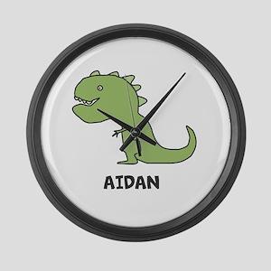 Personalized Dinosaur Large Wall Clock