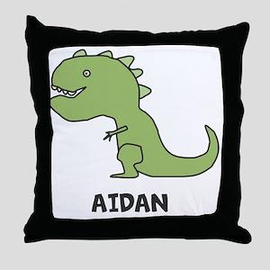 Personalized Dinosaur Throw Pillow