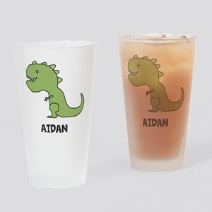 Personalized Dinosaur Drinking Glass