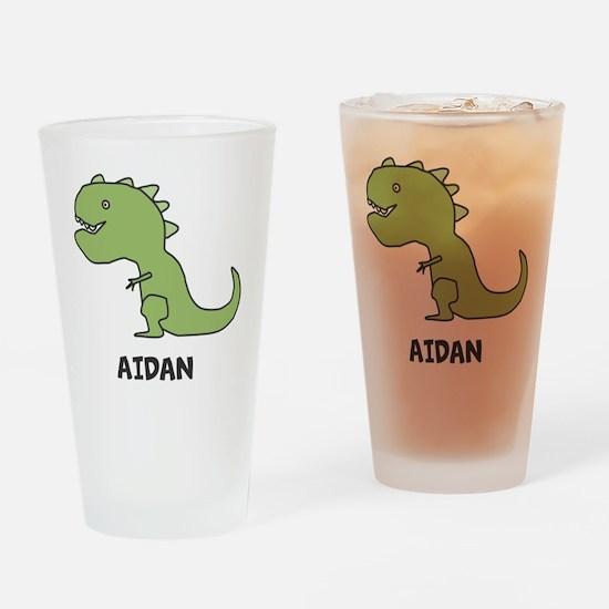 Personalized Dinosaur Drinking Glass