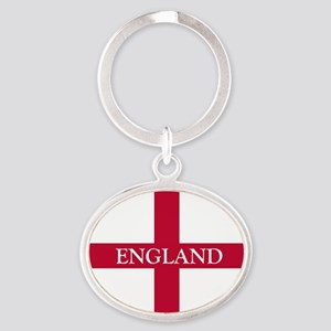 PC English Flag - England Goudy olds Oval Keychain