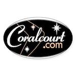 Coral Court Motel Oval Sticker