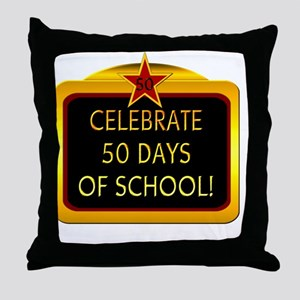 Celebrate 50 days of school 2 Throw Pillow