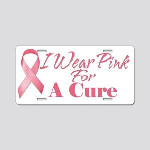cure Aluminum License Plate