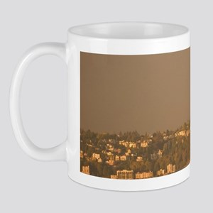 Seattle: Seattle Ferry on Elliott Bay w Mug