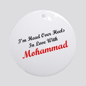 In Love with Mohammad Ornament (Round)