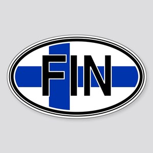 Finland Euro Oval Sticker
