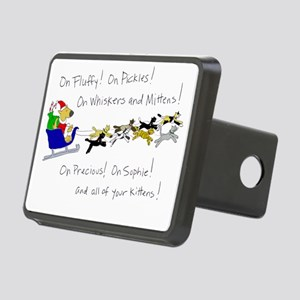 dogclaus-kittyreindeer-shi Rectangular Hitch Cover