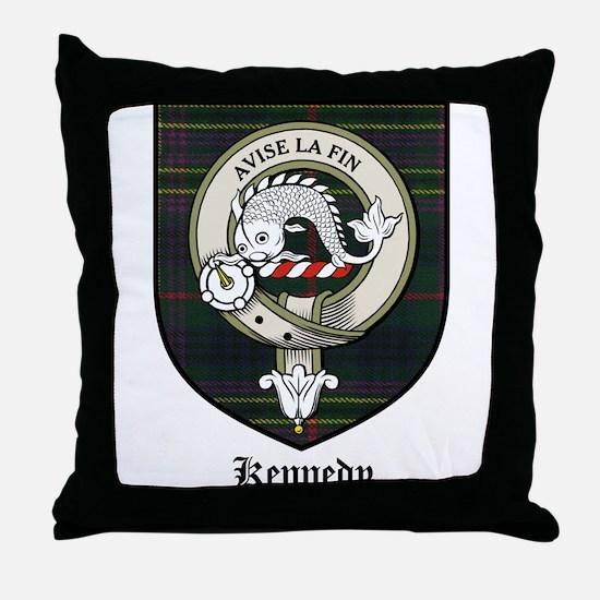 Kennedy Clan Crest Tartan Throw Pillow