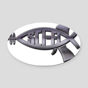 scifi_jesusfish Oval Car Magnet