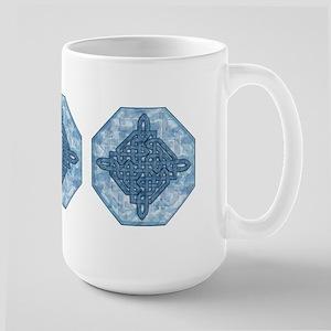 Celtic Diamond (Aqua) Large Mug