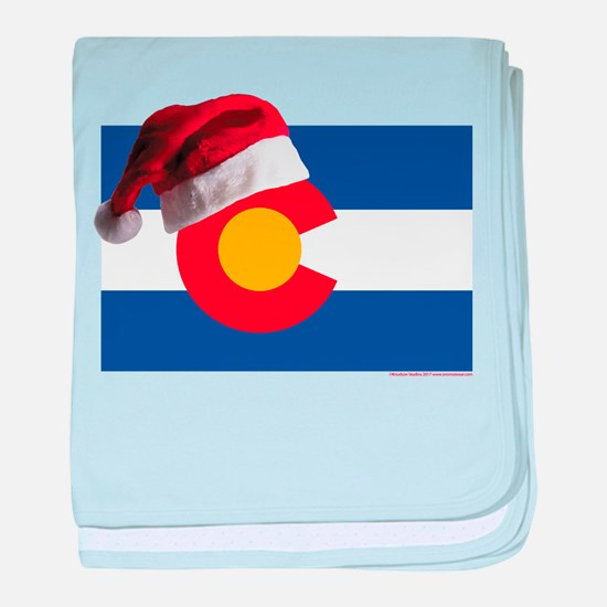 Christmas in Colorado baby blanket