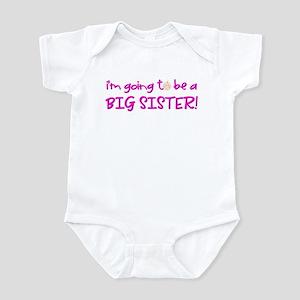 princess big sister (front only) Infant Bodysuit