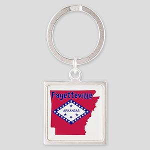 Fayetteville Arkansas Square Keychain