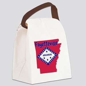 Fayetteville Arkansas Canvas Lunch Bag