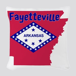 Fayetteville Arkansas Woven Throw Pillow