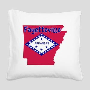 Fayetteville Arkansas Square Canvas Pillow