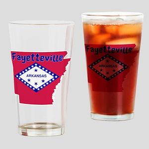 Fayetteville Arkansas Drinking Glass