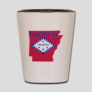 Fayetteville Arkansas Shot Glass