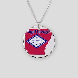 Fayetteville Arkansas Necklace Circle Charm