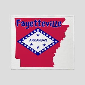 Fayetteville Arkansas Throw Blanket