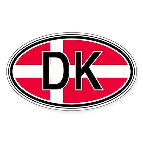 Denmark Euro Oval Sticker