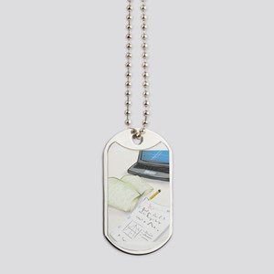 I'm Not Magical Mommy art Homework design Dog Tags