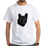 Frenchie Pup White T-Shirt