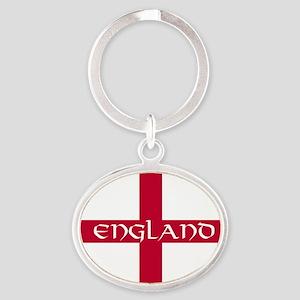 PC English Flag - England V Oval Keychain
