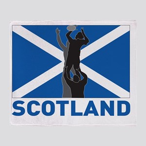 Rugby lineout throw ball scotland fl Throw Blanket